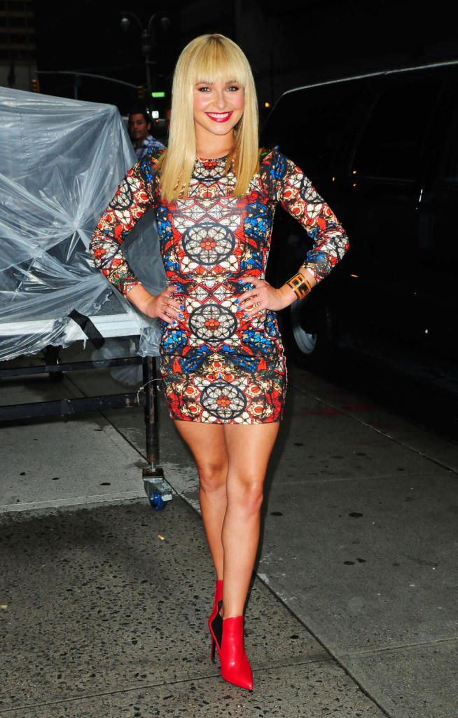 Hayden Panettiere At The 'Late Show With David Letterman' In New York City