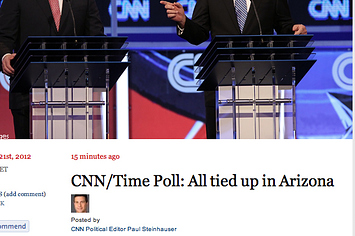 CNN And Time Treat Their Shared Poll A Bit Differently
