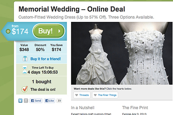 Someone Bought The Groupon Wedding Dress