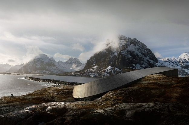 There Is A Hotel In Norway That Looks Like A Prehistoric Fossil