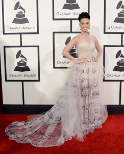 Katy Perry At The 56th GRAMMY Awards At The Staples Center In Los Angeles
