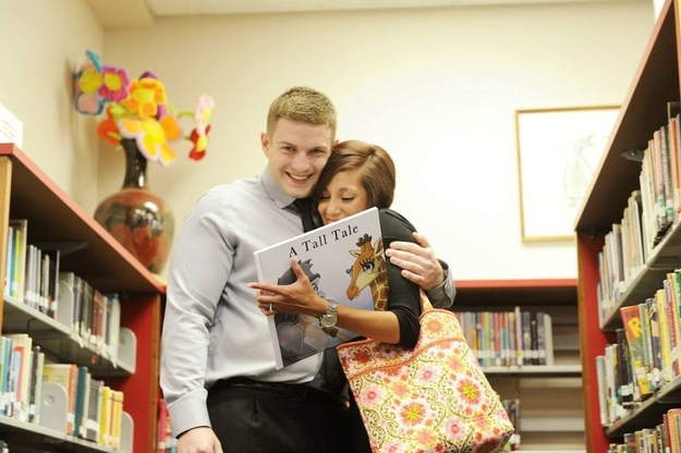 This Awesome Guy Proposed To His Girlfriend With A Super Cute Children's Book He Hid In A Local Library